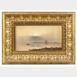 Charles Henry Gifford (Massachusetts, 1839-1904)      Sunset Over New Bedford Harbor
