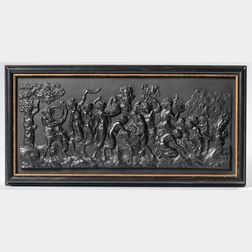 Wedgwood Black Basalt Bacchanalian Sacrifice   Plaque