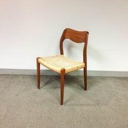 Niels Moller Woven-seat Teak Side Chair