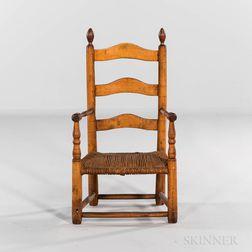 Maple Ladder-back Child's Armchair