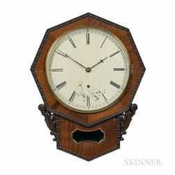Jerome Ripple-front Drop Octagon Wall Clock