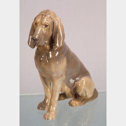 Royal Copenhagen Porcelain Female Bloodhound