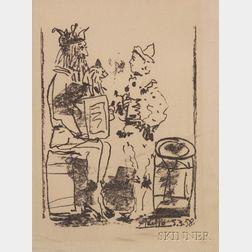 Pablo Picasso (Spanish, 1881-1973)      Les Saltimbanques