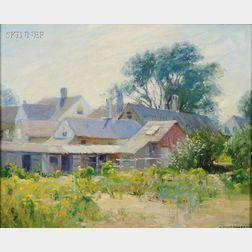 Alexis Jean Fournier  (French, 1865-1948)      A Bit of Old Provincetown