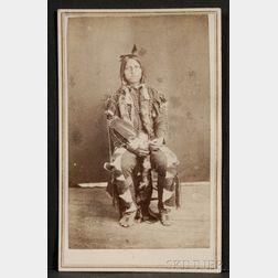 Carte de Visite of a Sioux Brave