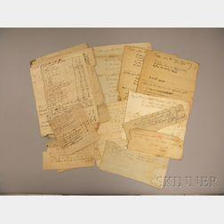 Cobb Family Manuscript Archive (1767-1830), Twenty-one Separate Documents: