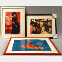 Syndey Byrd (American, b. 1944)      Three Framed Photographs:   Voodoo Trance, Haiti