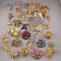 Group of Costume Brooches