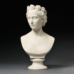 Copeland Parian Bust of Princess Alice