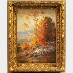 Robert Hamilton (American, 1877-1954)      Landscape with Autumn Colors.