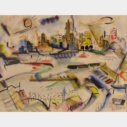 George Schwacha Jr. (American, 1908-1986)      Cityscape