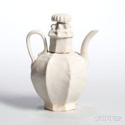 White-glazed Porcelain Ewer