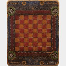 Carved and Painted Game Board