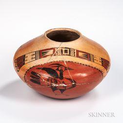 Hopi Polychrome Pottery Seed Jar