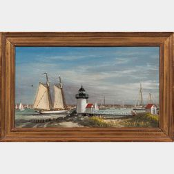 Peter Layne Arguimbau (New York/Connecticut/Italy, b. 1951)      Nantucket Harbor Scene