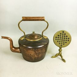 Copper Teakettle and a Miniature Brass Games Table