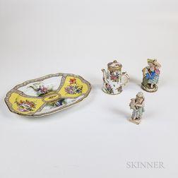 Four German Porcelain Items