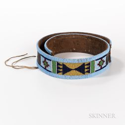 Nez Perce Beaded Leather Belt