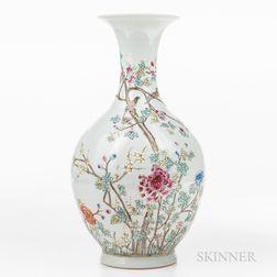 Enameled Porcelain Vase
