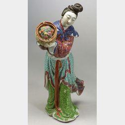 Porcelain Figure of a Female Divinity