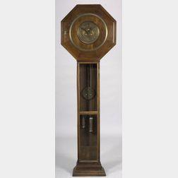 Darmstadt/Jugendstil School Fruitwood Tall Case Clock