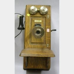 Western Electric Co. Wall-Mounted Magneto Telephone