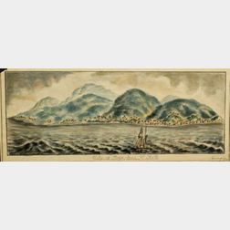 Attributed to Henry Schreiner Stellwagen (American, d. 1866)    Two Watercolor Views of Caribbean Ports.