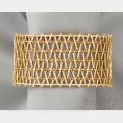 18kt Gold and Diamond Cuff Bracelet