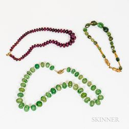 Group of Bead Necklaces