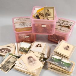 Large Collection of Stereoscopic Views, Postcards, and Carte-de-Visites