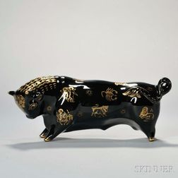 Wedgwood Black Glazed Taurus the Bull