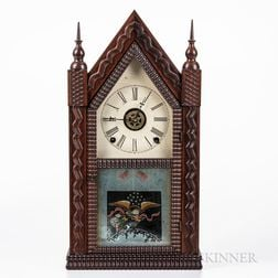 J.C. Brown Ripple-front Beehive Clock