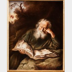 Rosenthal Porcelain Plaque of St. Jerome