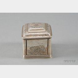 George II Silver Tea Caddy Box