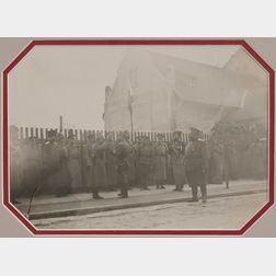 Gelatin Silver Print of Tsar Nicholas II Inspecting Troops During World War I