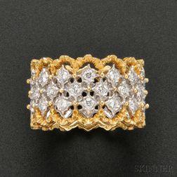 18kt Gold and Diamond Band, Buccellati