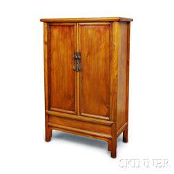Tapered Elmwood Cabinet