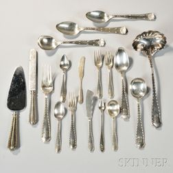 """Tiffany & Co. """"Marquise"""" Pattern Sterling Silver Flatware Service"""