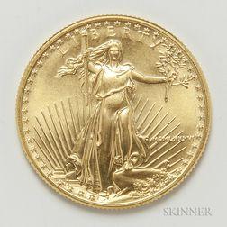 1986 $25 American Gold Eagle.