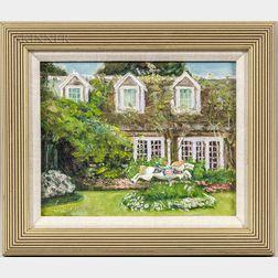 Kent Lemon (American, b. 1960)      Garden of the Chanticleer Restaurant, Nantucket