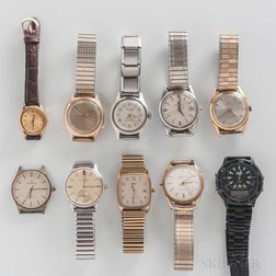 Ten Vintage Wristwatches