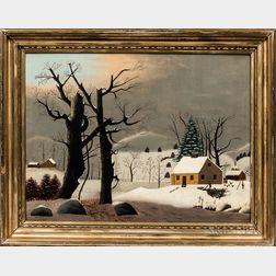 American School, 19th Century      Winter Landscape