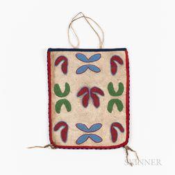 Nez Perce Beaded Hide Bag