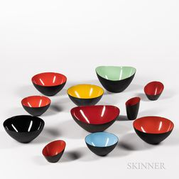 Twenty Pieces of Mostly Herbert Krenchel (Danish, 1922-2014) Krenit-bowls