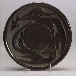 Southwest Carved Pottery Plate