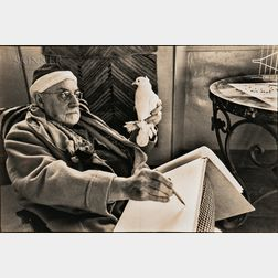 Henri Cartier-Bresson (French, 1908-2004)    Matisse Sketching