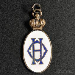 Enameled and Engraved Presentation Medal