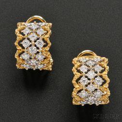 18kt Gold and Diamond Hoop Earrings, Buccellati