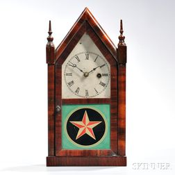 Jerome & Co. Mahogany Veneer Steeple Clock