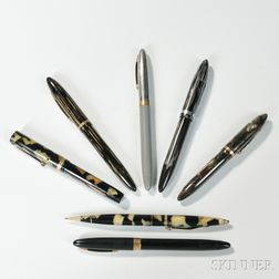 Seven Sheaffer Fountain Pens